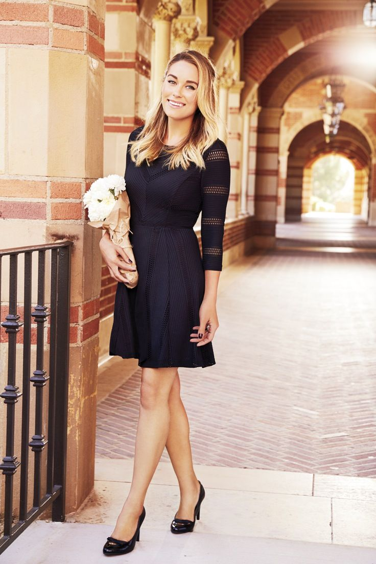 Give A Warm Welcome To Fall Style In Lovely Openwork Dress Lc Lauren Conrad
