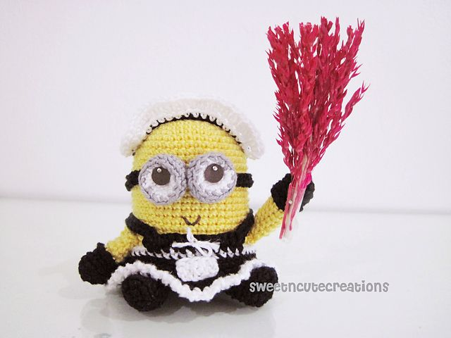 Free Minion Inspired Crochet Patterns Round Up | French maid, Free ...
