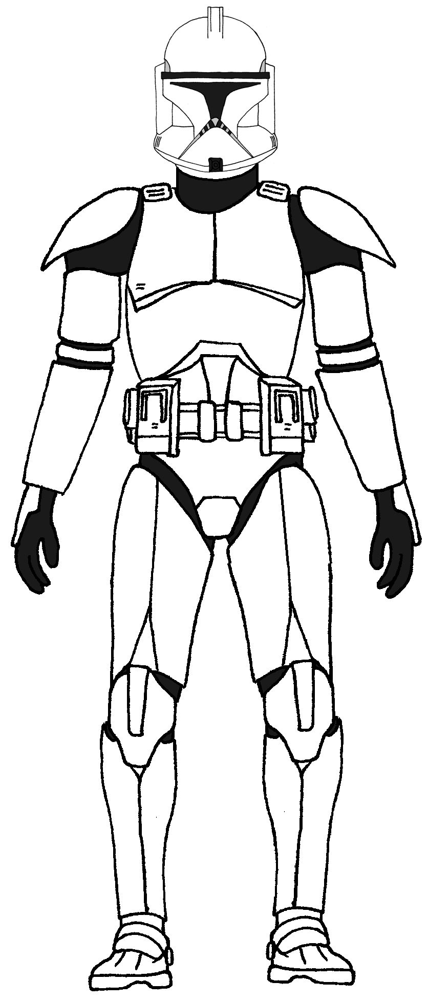 Free clone trooper coloring pages - Star Wars Color In Papers