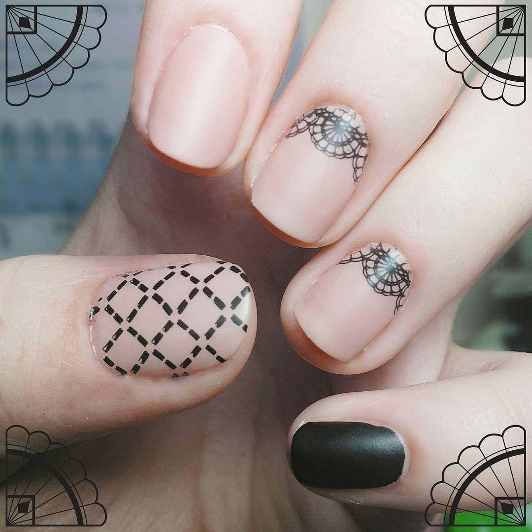 lace nail art designs 2017 for women   Paznokcie   Pinterest   Lace ...