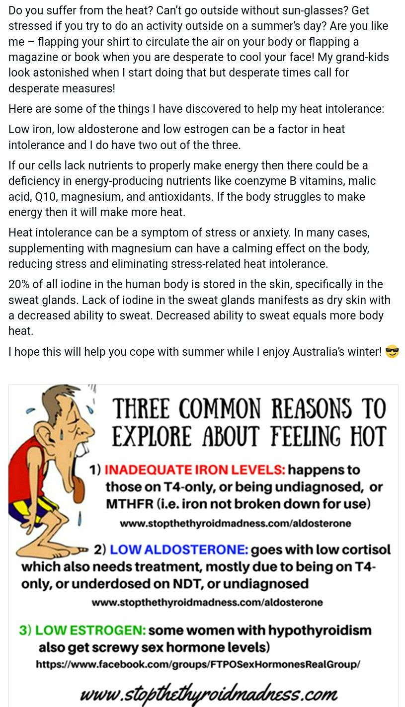 Hot flashes , hot intolerance   Hot flashes, Stress, Health