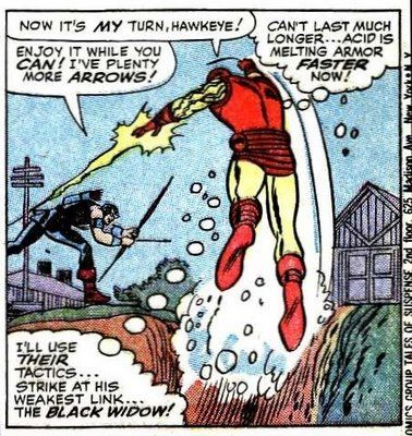 Hawkeye's first appearance was as a villain in the iron man comics