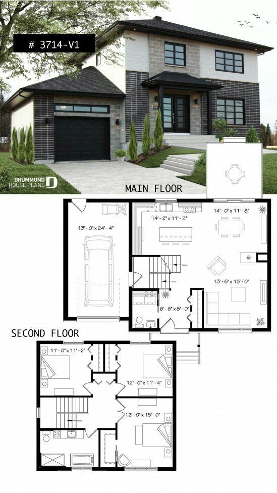 House Front Design Modern House Floor Plans House Blueprints House Front Design