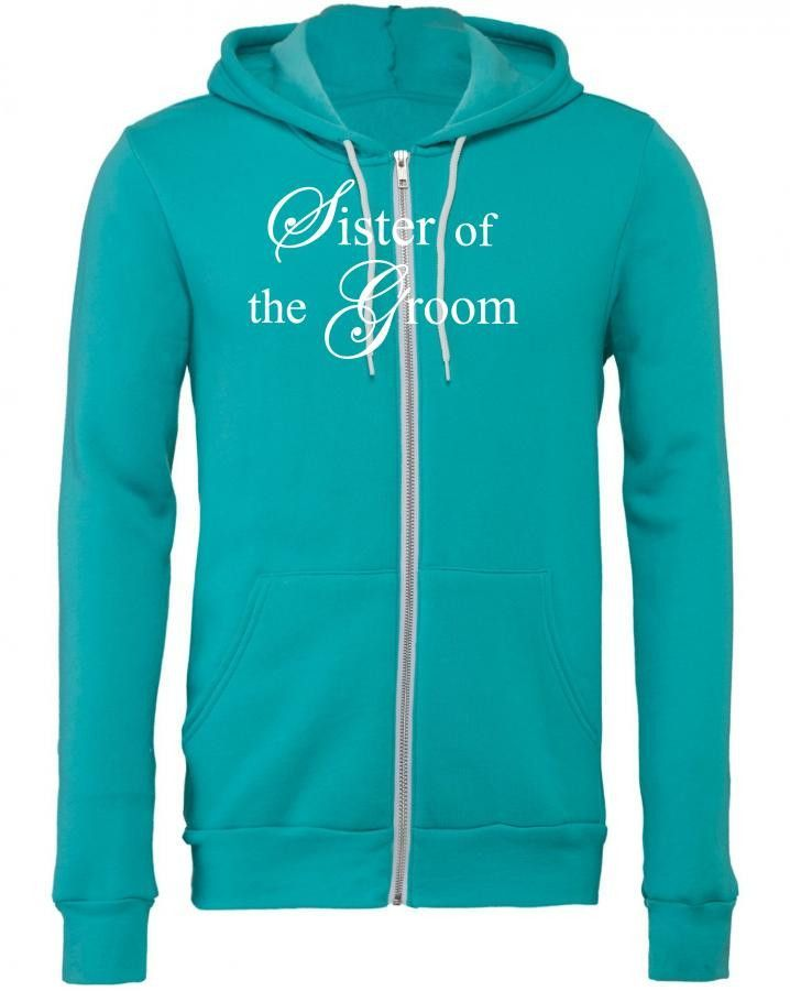 sister of the groom white Zipper Hoodie