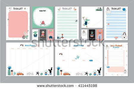 Scandinavian Weekly And Daily Planner Template Organizer And