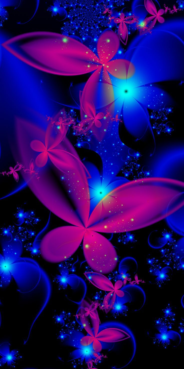 Breast Cancer 3d Wallpaper For Pc Pink And Blue Butterfly Art Pinterest Blue Butterfly