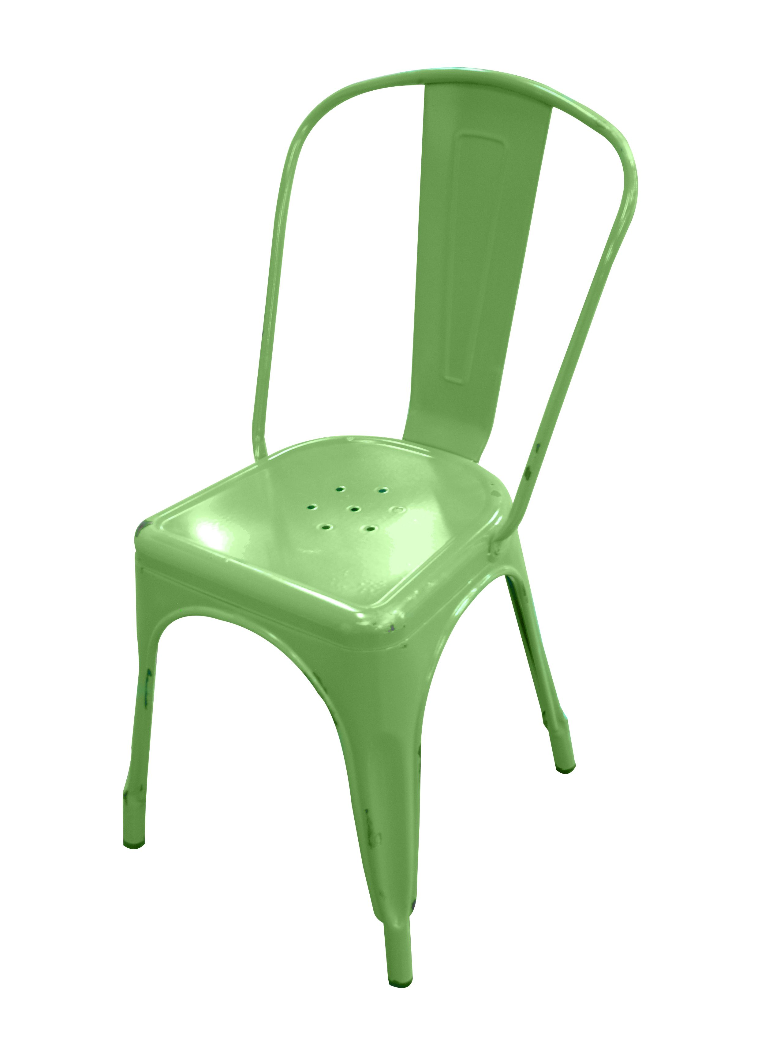 This green chair can be added as a desk chair or dining chairs for a splash of color. Six great colors from walkeredison.com