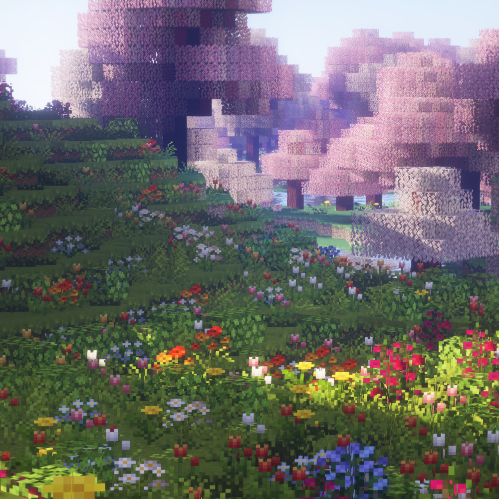 Enjoy This Aesthetic Snapshot Of A Cherry Blossom Minecraft Biome