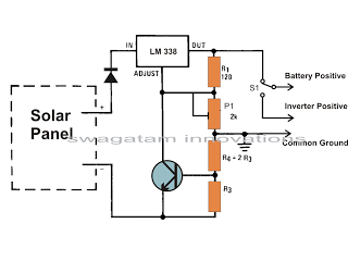 How To Build A Solar Panel Voltage Regulator Charger Circuit Charger Circuit At Home Homemade Circuit Desig Solar Battery Charger Solar Battery Solar Panels