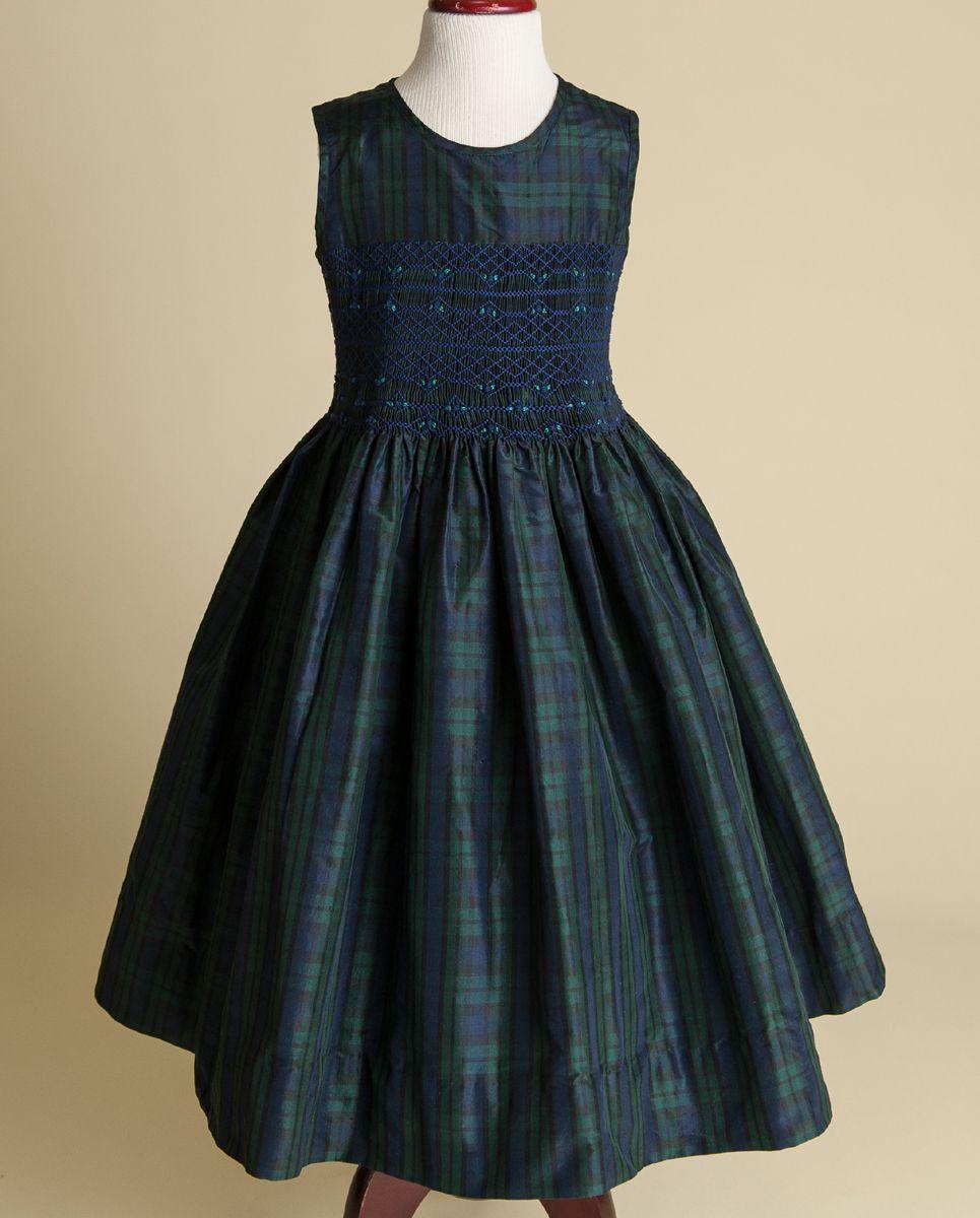 Scottish wedding dresses  blackwatch plaid silk girls dress  Scottish Wedding Theme Event