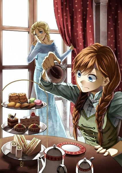 Tags anime twin braids disney pixiv id 1384702 frozen disney elsa the snow queen - Princesse anna et elsa ...