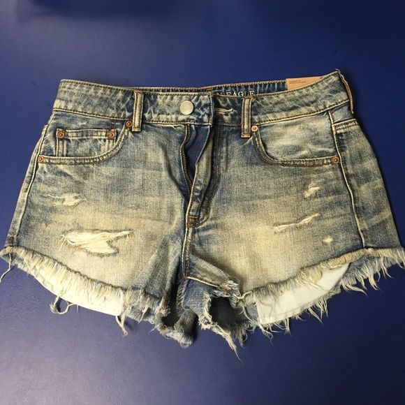NWT AE Hi-Rise Shorts size 8 AE cut off shorts size 8, new with tags. American Eagle Outfitters Shorts Jean Shorts