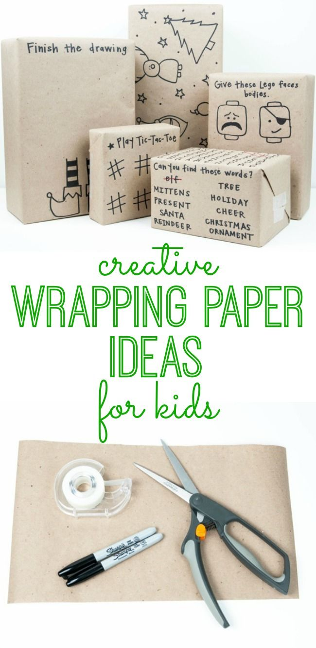 Creative Wrapping Paper Ideas For Kids Christmas Gift