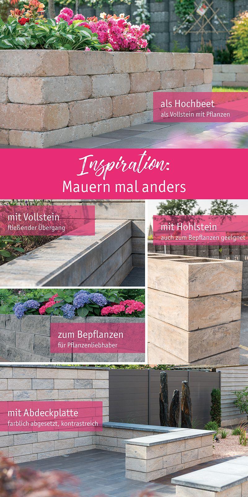 Mauern Mal Anders Diverse Moglichkeiten Mauerabschlusse Zu Gestalten Eine Mauer Mehrere Moglichkeiten Garten Landschaftsbau Landschaftsbau Mauer