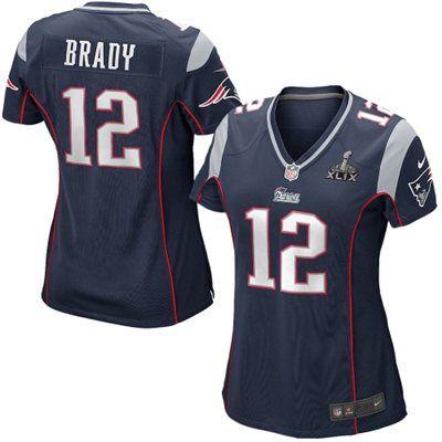 Women s New England Patriots Tom Brady Nike Navy Blue Super Bowl XLIX Bound  Game Jersey e2c36808e