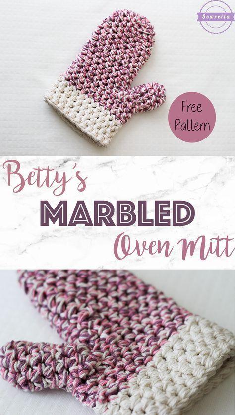 Bettys Marbled Oven Mitt Free Crochet Crochet And Patterns