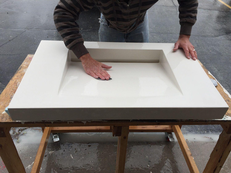 Modernize Your Home With A Concrete Ramp Sink   home decor ...