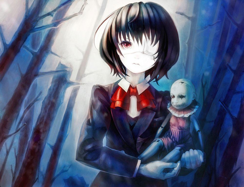 Картинки аниме девушек без глаза