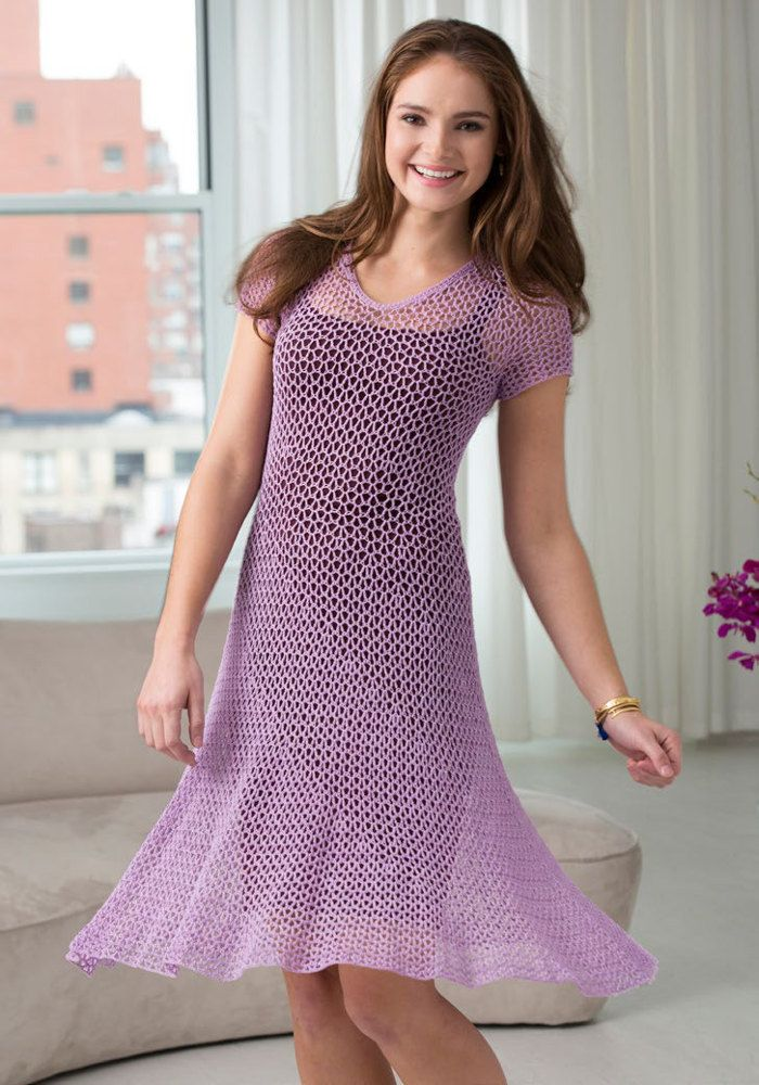 Dress With Flare In Aunt Lydia S Classic Crochet Thread