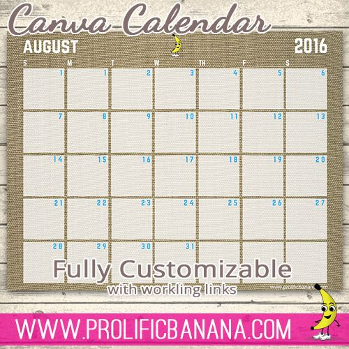 Create A Pdf Calendar Template With Working Links In Canva WeLl