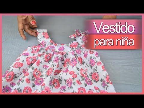 c051376e0 DIY Cómo hacer VESTIDOS PARA NIÑA paso a paso (Patrón gratis) | Costura y  Moda - YouTube