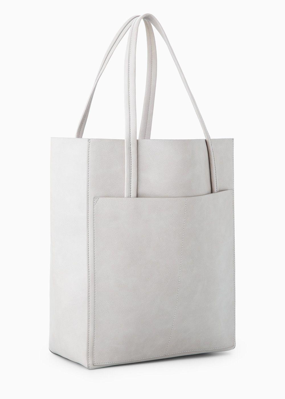 8e50def553a Shopper met zak Lederen Tassen Handgemaakt, Handgemaakte Tassen, Zwart  Lederen Tassen, Winkeltas,