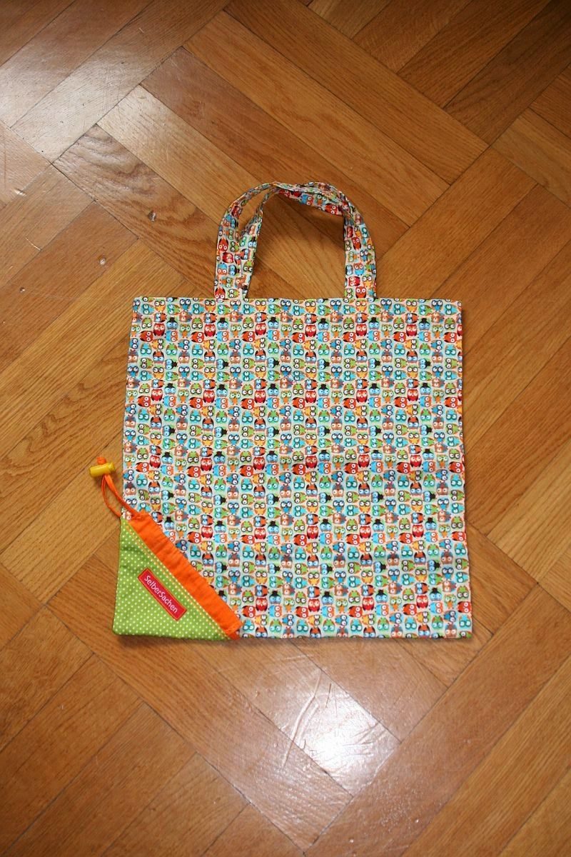 Reusable Grocery Bag / Faltbare Einkaufstasche // SelberSachen ...