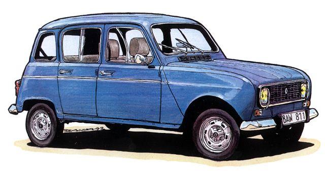Renault 4l anciennes voitures renault 4l renault et voiture renault - Dessin renault ...