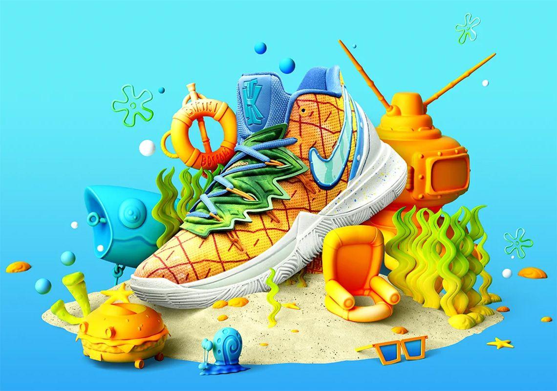 Spongebob Nike Kyrie 5 Pineapple House CJ6951800 Store