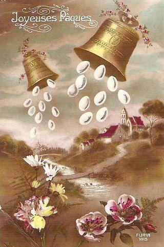 Coutumes et traditions f tes de p ques r jouissances agneau oeufs cloches l gendes - Cloche de paques ...