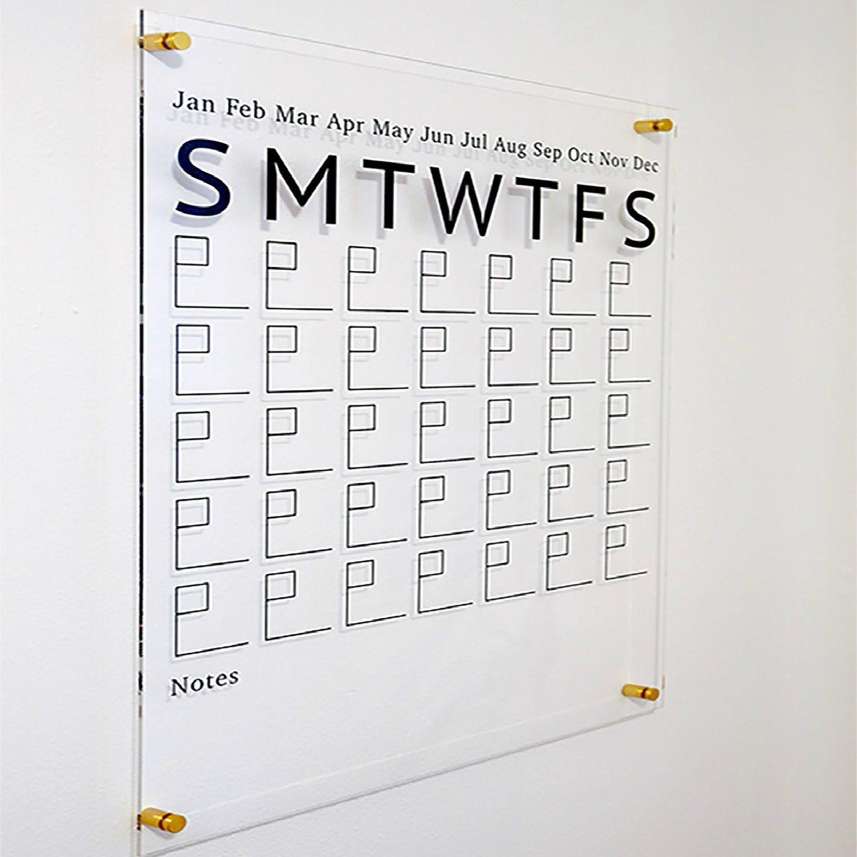 Dry Erase Calendar, Family Calendar, Acrylic Calendar For