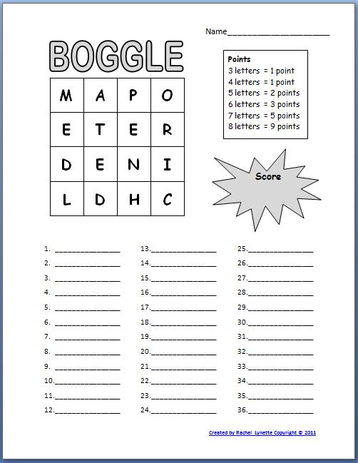 Voorkeur Boggle Werkblad - extra werk | Pinterest - Taal, Spelletjes en Lezen PB71