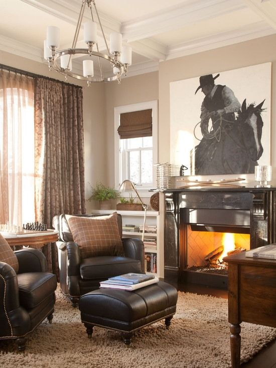 cowboy living room ideas elegant curtains for uk the big canvas with tjs pic roping would be super cool