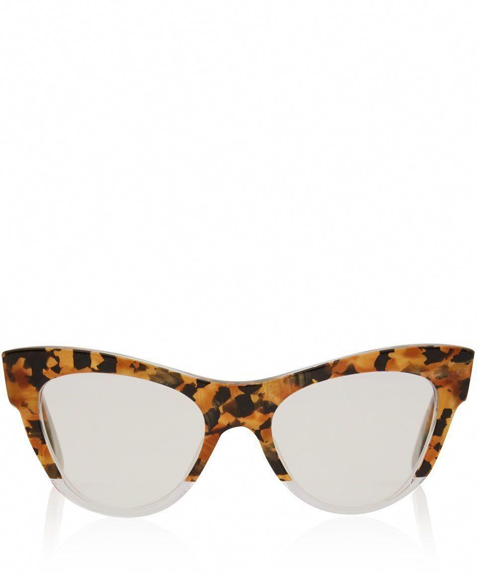b1f21a13ea91 Miu Miu Brown Camouflage Cat Eye Glasses