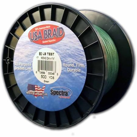 Usa Braid 80lb Braided Superline 500yds Green Braided Line Braids Green