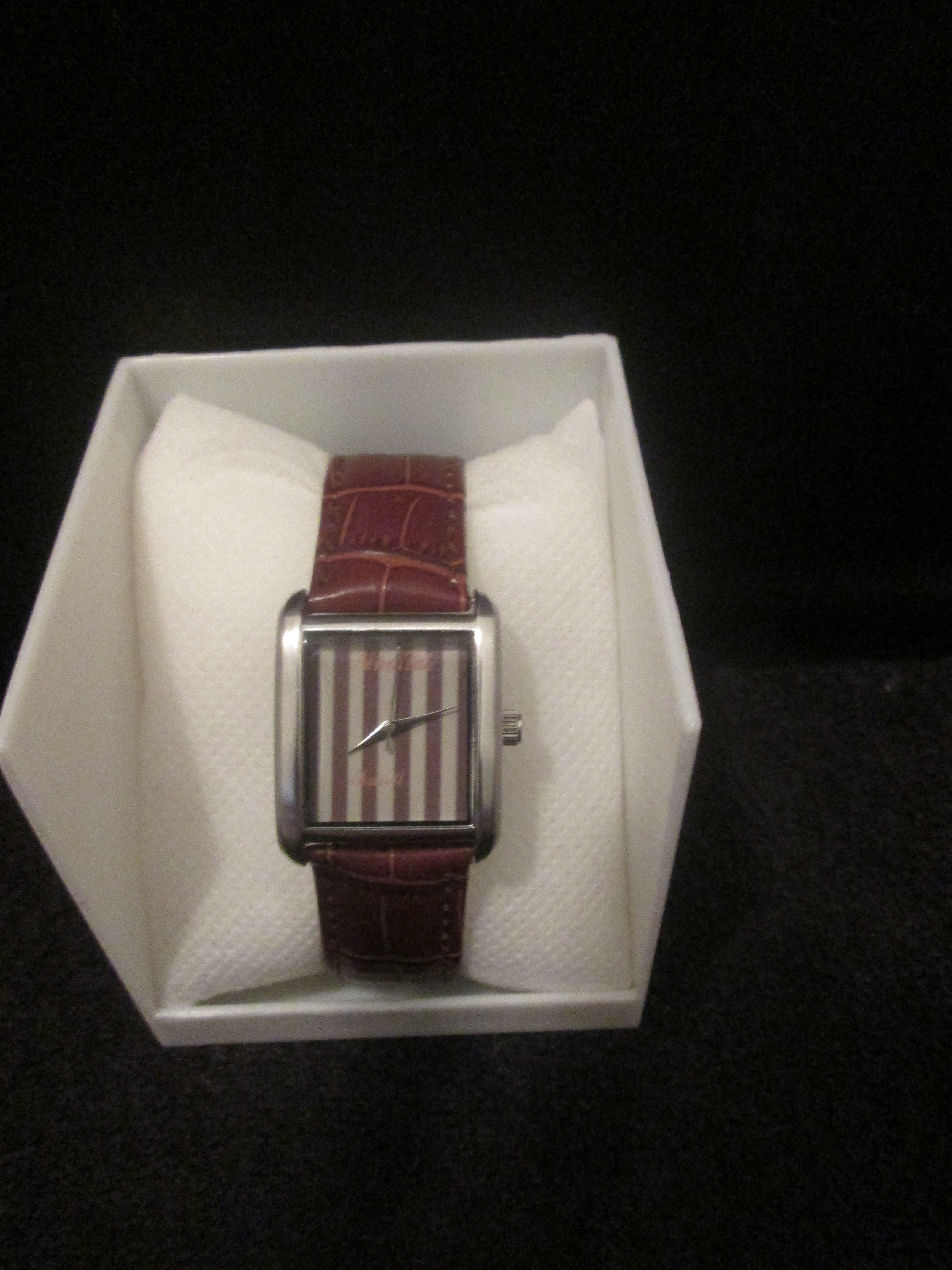Noneillah S Classy Brown And Tan Stripes Brown Leather