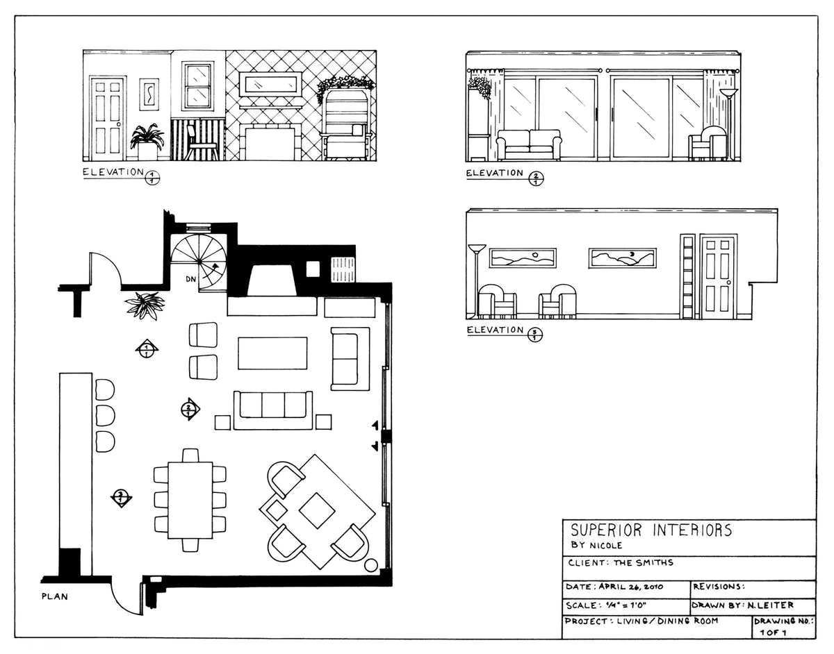 7 Fancy Living Room Plan And Elevation