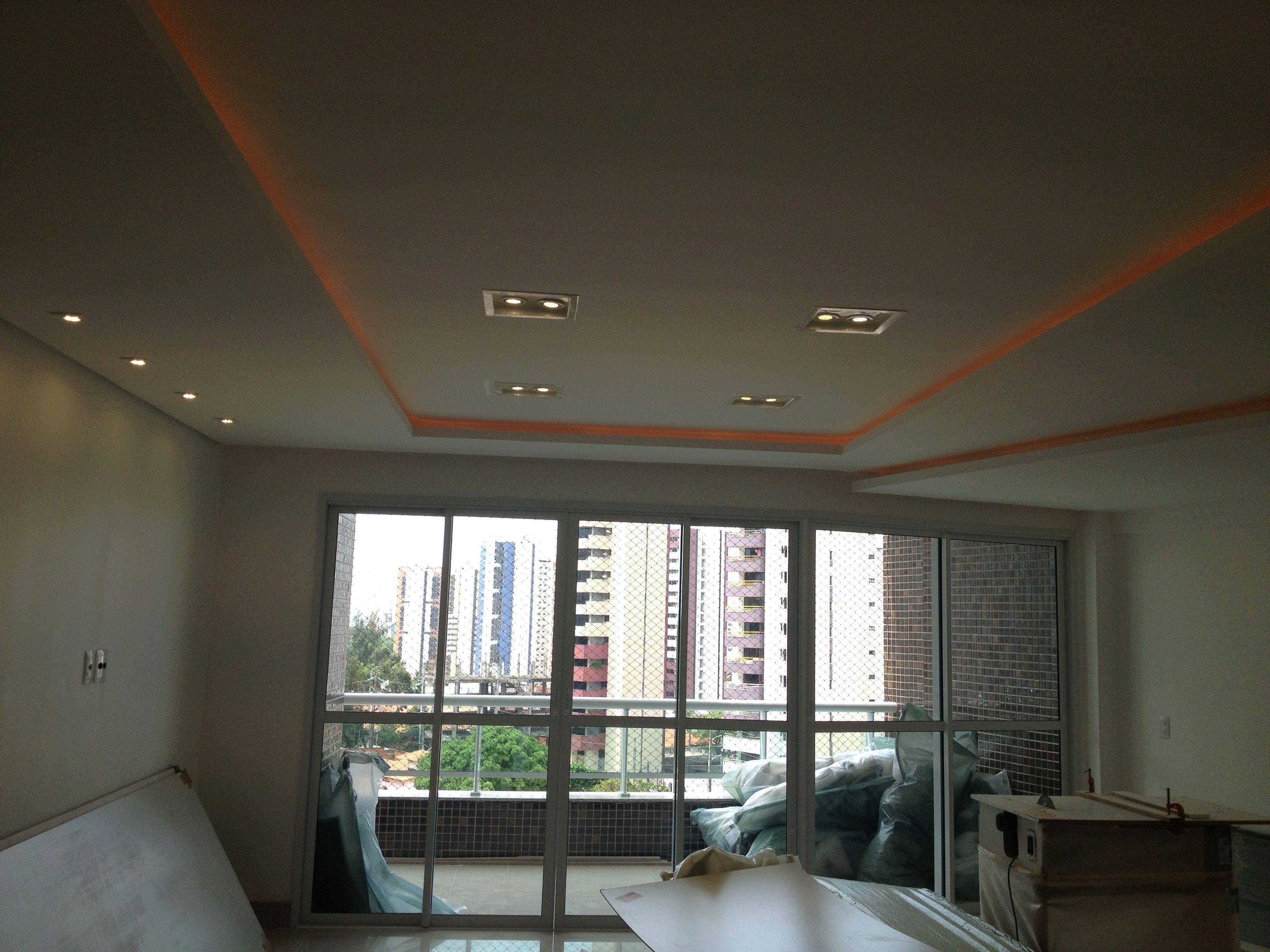 Forro De Gesso Sala Estar Jantar Apartamento Residencial Obras