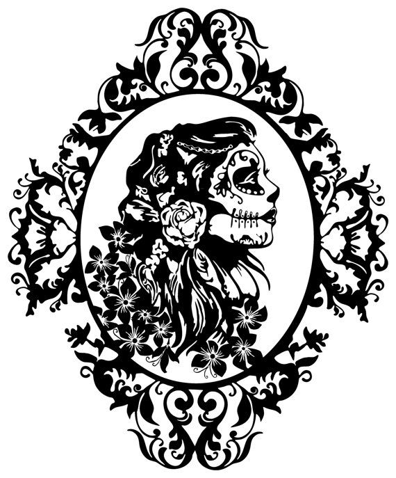 Steampunk girl decal sticker wall art gears cogs clock punk car graphics room decor emo gothic metal aa94