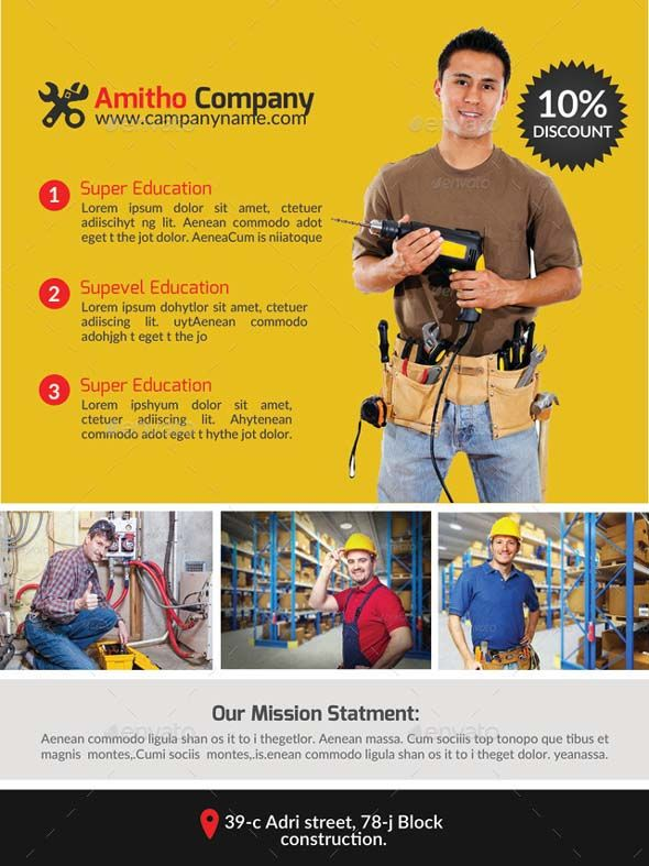 16+ Free \ Premium Handyman Flyer Mockups \ PSD Design Templates - handyman flyer template