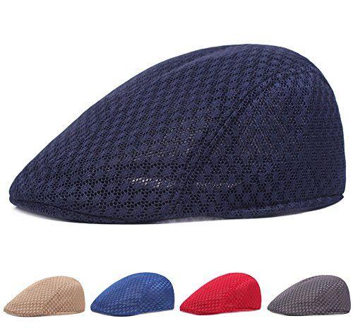 844dc0e1ef751  9.99 Roffatide Men Women Duckbill Mesh Summer Hat Breathable Gatsby Ivy  Driving Hat Sun Newsboy Cap