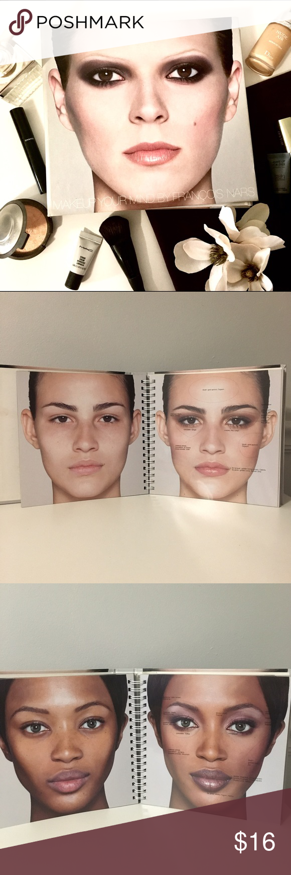 """Francois Nars """"Makeup Your Mind"""" Hardcover Book In this"""