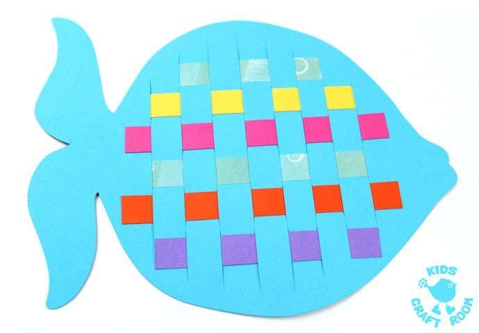 Paper Weaving Fish Craft Preschool Ideas Teaching Fish Crafts