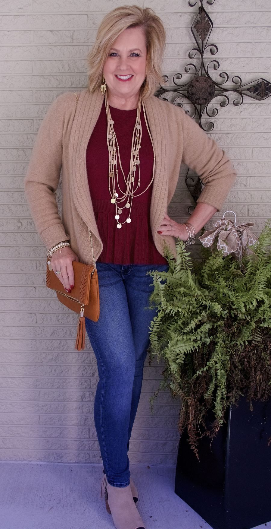 Photo of A PEPLUM TOP AND SKINNY JEANS – 50 IS NOT OLD