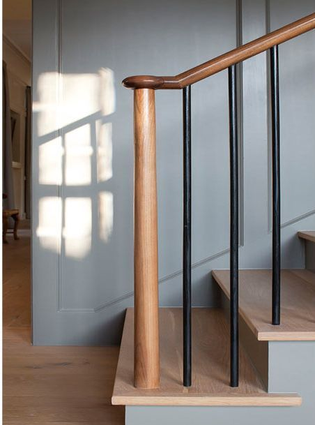 Simple and beautiful stair railing | Wooden staircase ...