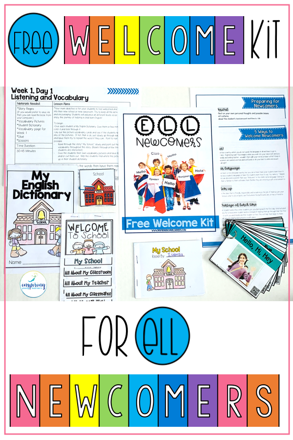 Free Newcomer Welcome Kit Filled With Checklists Survival Word Flashcards Lesson Plans And Mate Newcomer Activities Teaching Kindness Teaching Ell Students