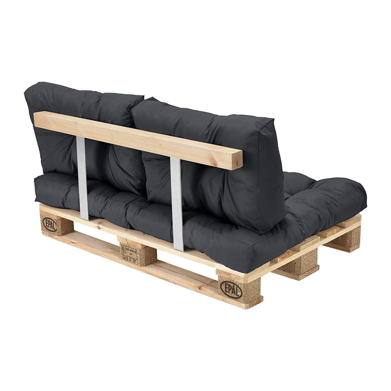 Paletten Sofa en casa 1x rückenkissen für paletten sofa dunkelgrau