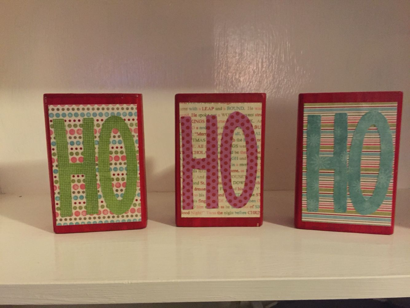 Ho Ho Ho wooden blocks
