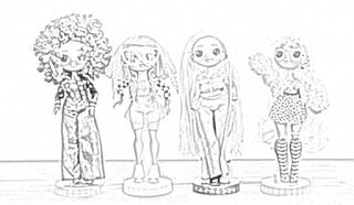 Coloring Pages L O L Surprise O M G Dolls Coloring Pages Free And Downloadable In 2020 Coloring Pages Bratz Doll Doll Stands