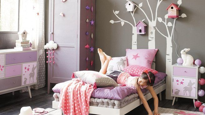 1000 images about dco chambre on pinterest - Deco Gris Et Rose Chambre Fille